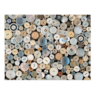 Sewing - Buttons - Lots of white buttons Post Card