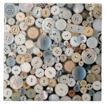 Sewing - Buttons - Lots of white buttons Ceramic Tiles