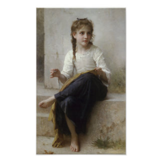 Sewing by William-Adolphe Bouguereau Print