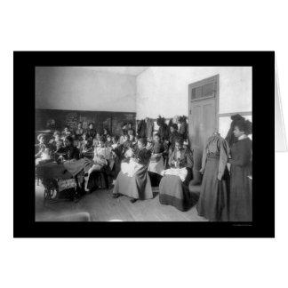 Sewing Class Howard University 1900 Card