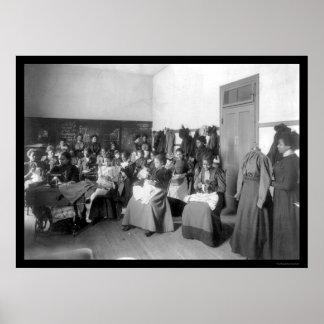 Sewing Class Howard University 1900 Print