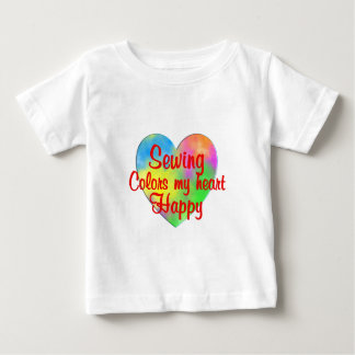 Sewing Colors My Heart Happy Baby T-Shirt