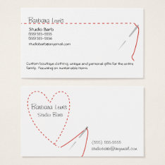 Sewing Craft Business Card at Zazzle