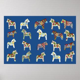 Sewing Dala Horses Poster