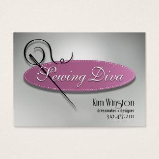 """""""Sewing Diva"""" - Seamstress, Dressmaker, Designer Business Card"""