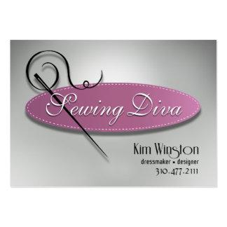 """""""Sewing Diva"""" - Seamstress, Dressmaker, Designer Large Business Card"""