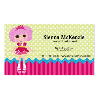Sewing doll business card