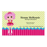 Sewing doll business card template