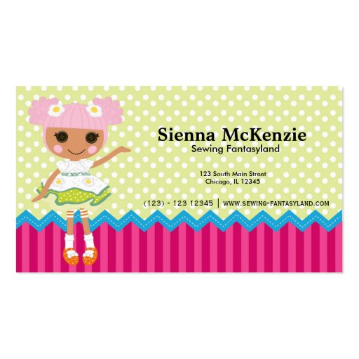 Sewing business business card templates page2 bizcardstudio sewing doll business cards colourmoves