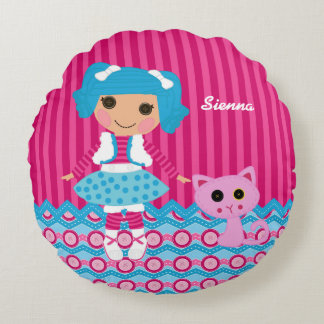 Sewing Doll Round Pillow