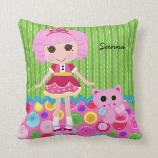 Sewing Doll Throw Pillows