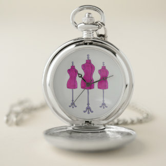 Sewing Dressform Mannequin Fashion Costume Design Pocket Watch