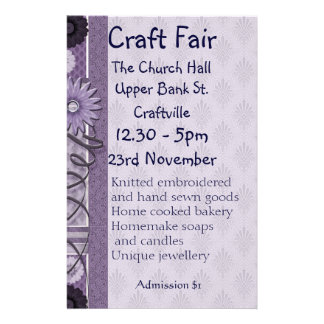 Sewing, Embroidery and Decorative Crafts Fair Flye Full Color Flyer