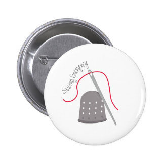 Sewing Emergency Pinback Button