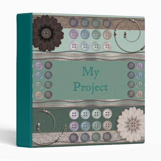 Sewing Enthusiast Green Avery Binder