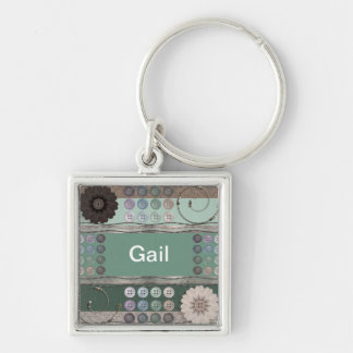 Sewing Enthusiast Green Keychain
