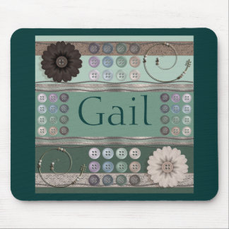 Sewing Enthusiast Green Mouse Pad