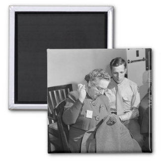 Sewing for the Cause, 1943 2 Inch Square Magnet