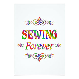 Sewing Forever 5x7 Paper Invitation Card