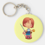 Sewing girl key chains