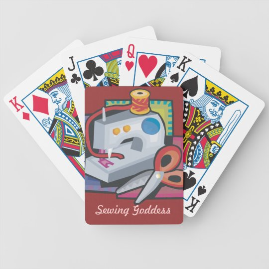 Sewing Goddess Bicycle Playing Cards
