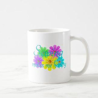 Sewing Happiness Flowers Coffee Mug