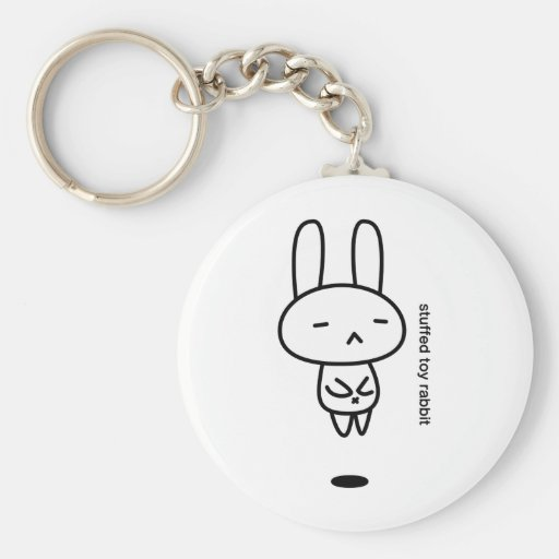 Sewing involving the rabbit/floating basic round button keychain