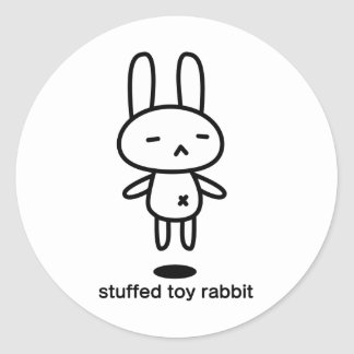 Sewing involving the rabbit/floating classic round sticker