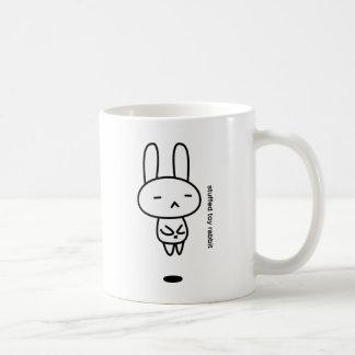Sewing involving the rabbit/floating classic white coffee mug