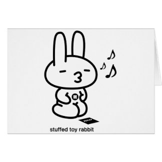 Sewing involving the rabbit/runrun feeling card