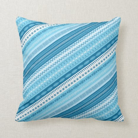 Sewing is my happy place blue tones throw pillow