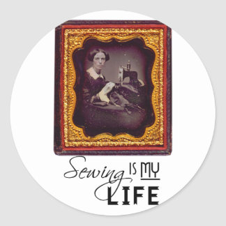 Sewing Is My Life Classic Round Sticker