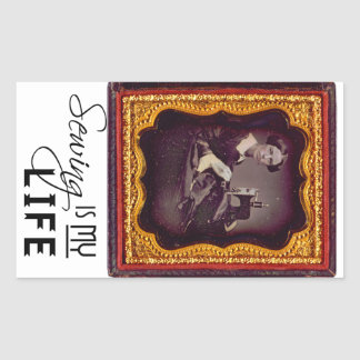 Sewing Is My Life Rectangular Sticker