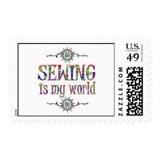 Sewing is My World Postage Stamp