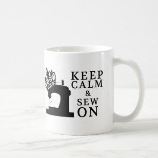 Sewing • Keep Calm Sew On • Crafts Coffee Mug