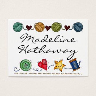 Sewing / Knitting Enclosure Card / Tag by SRF