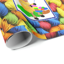 Sewing Knitting Sheep / Yarn Mothers Day Birthday Wrapping Paper