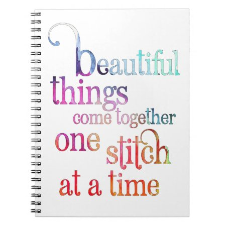 Sewing Knitting Stitch Notebook