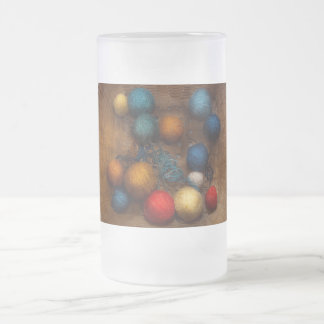 Sewing - Knitting - Yarn for cats Frosted Glass Beer Mug