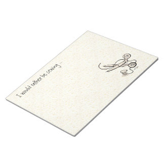 Sewing (large) note pad