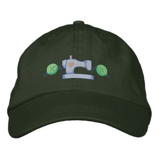 Sewing Machine Accent Embroidered Baseball Cap
