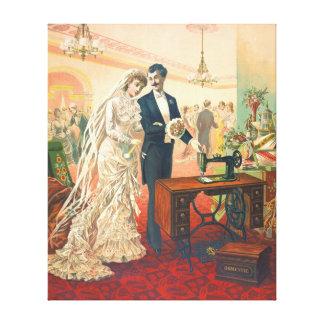 Sewing Machine Ad 1832 Canvas Print