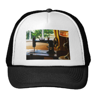 Sewing Machine and Lamp Trucker Hats