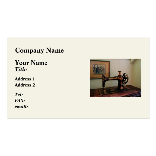 Sewing Machine and Lithograph Business Card Templates