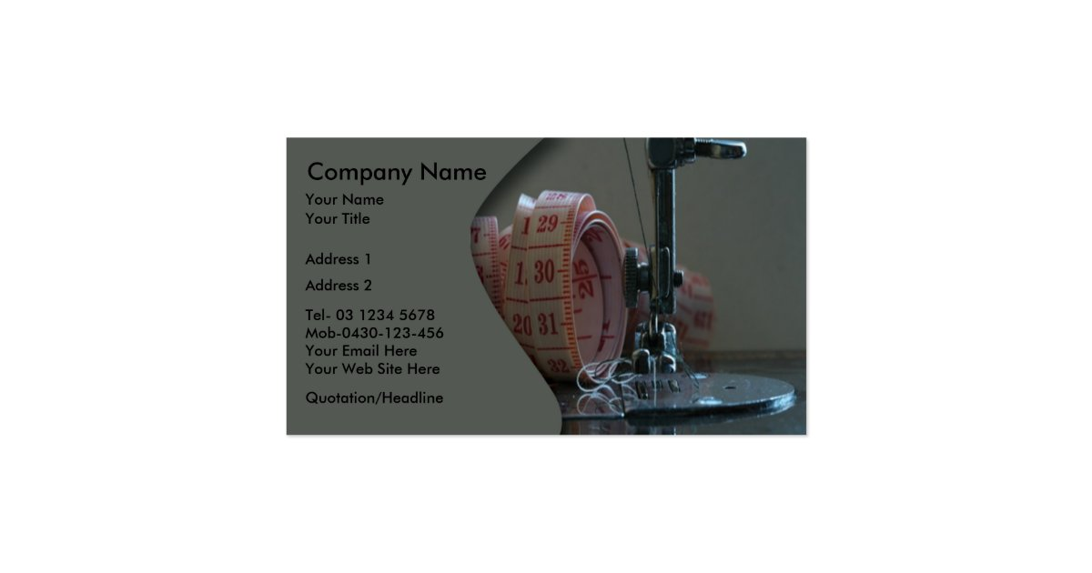sewing machine business cards