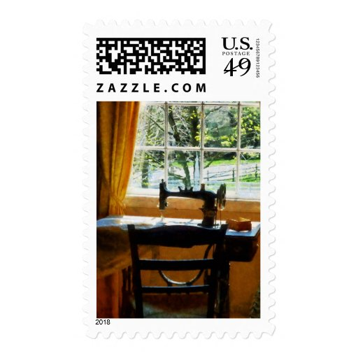 Sewing Machine By Window Postage