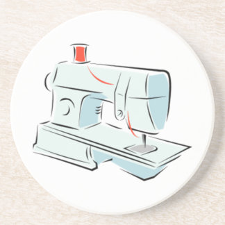 Sewing Machine Drink Coaster