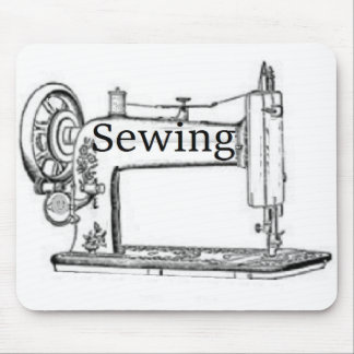 Sewing Machine Design Mouse Pad