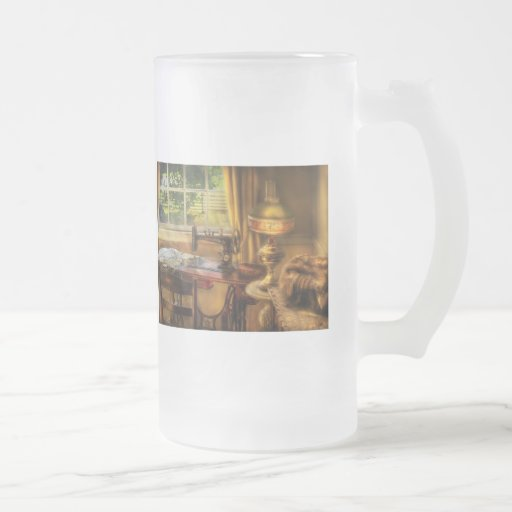 Sewing Machine  - Domestic Sewing Machine 16 Oz Frosted Glass Beer Mug