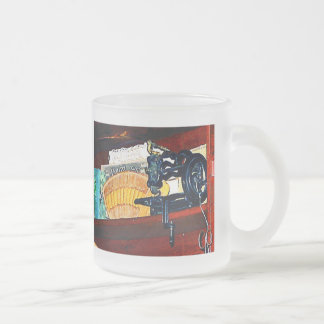Sewing Machine for Sale 10 Oz Frosted Glass Coffee Mug